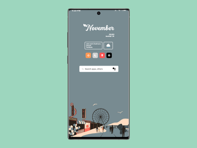 Android theme UI design app mobile ui visual design userexperience userinterface figma adobe xd digital product design themes webdesign android app androids product designer ui designer uxui ui