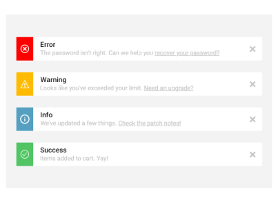 Toast message ui playstore application interaction uix error success warning web ios notification message app toast ui design mobile app ui