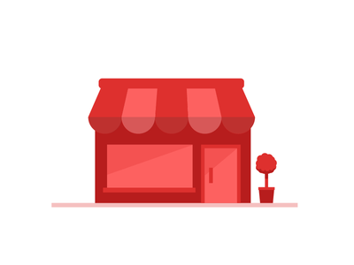 Shop Red vector clean shop front front simple retail shop red