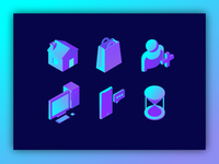 Isometric Neon Icons