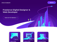 Purple City Portfolio Site (UI Design)