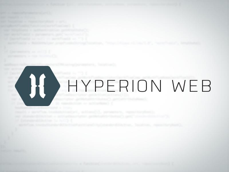 Hyperion Web Logo hyperion web logo code