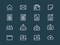 UI icons for the e-Boks app.