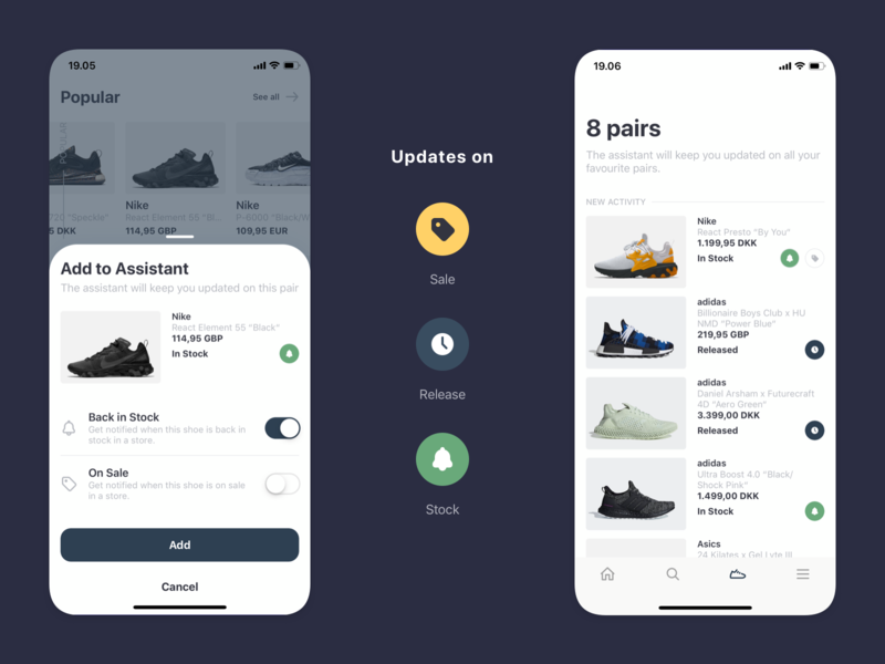 All Pairs – Your personal sneaker assistant sneaker sneakerhead shop shoe app mobile assistant