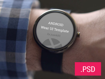 Android Wear Template PSD android ui template wear psd free download