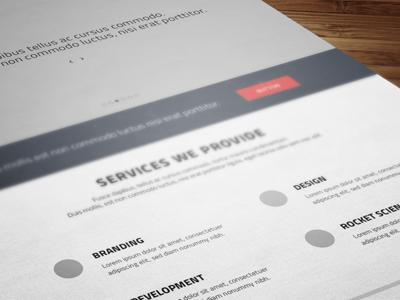 wireframes - redb.ee website redesign