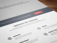 wireframes - redb.ee website redesign