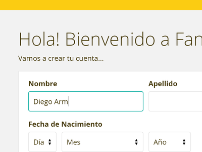 Website Redesign ux ui clean form argentina input