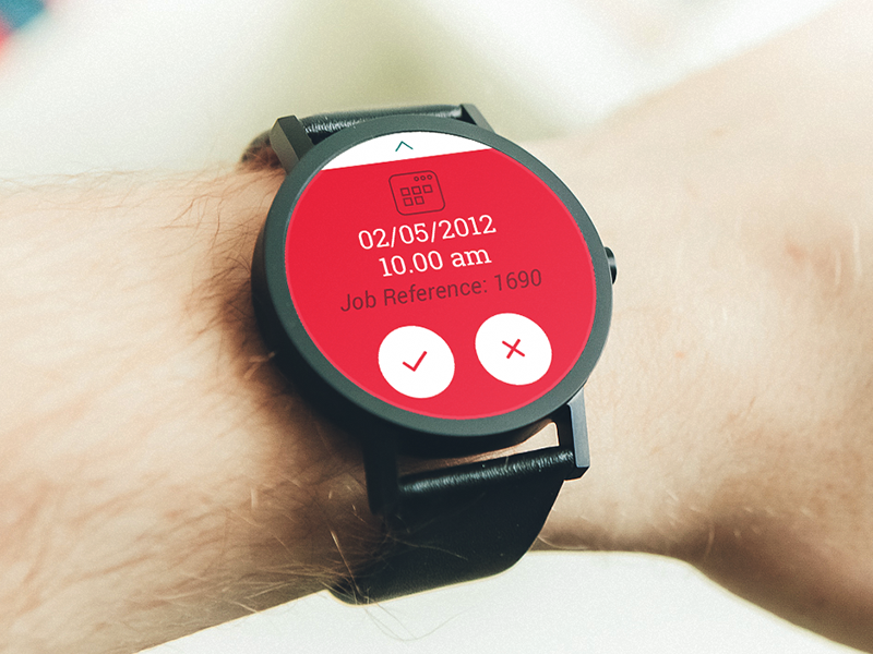 Android Wear - Accept Appointment? ux ui android wear watch juank85