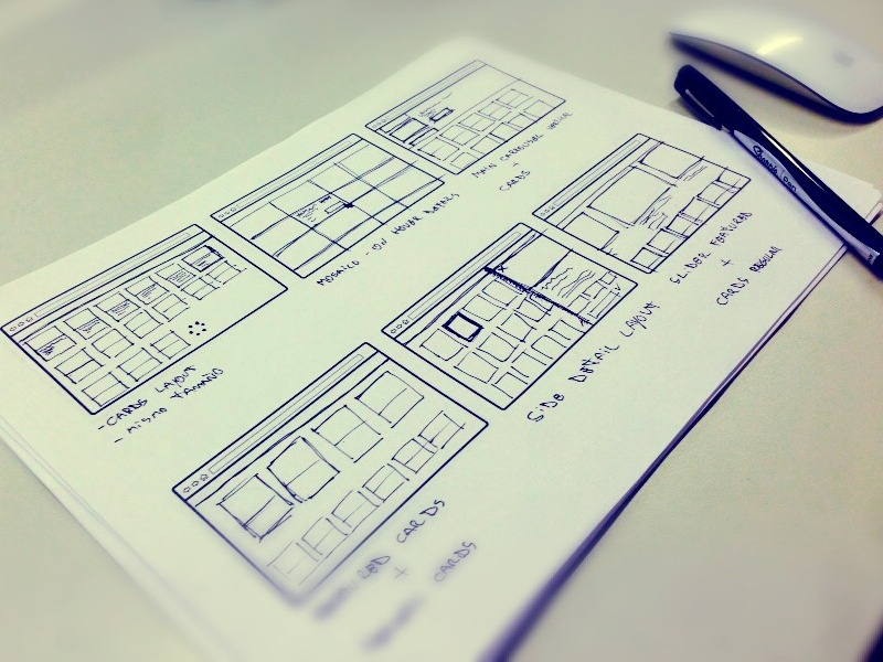 You know that smell? ux sketching wireframing start