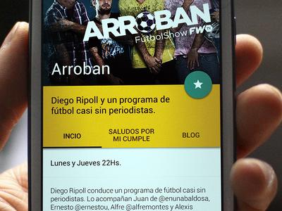 FWTV AndroidApp - Material Design