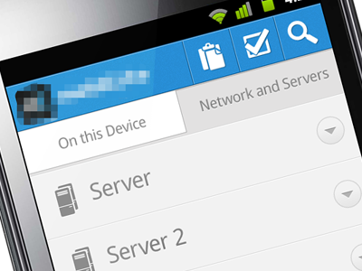 Android File Admin App. android ui interface ux design admin