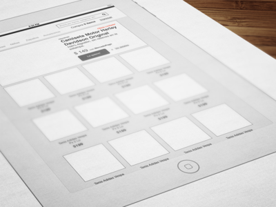 Fashion eCommerce Concept - iPad wireframes