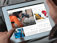 iPad RSS Reader - UI Concepts