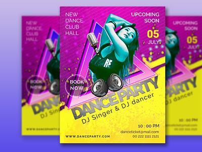 Dance Party Flyer graphic design