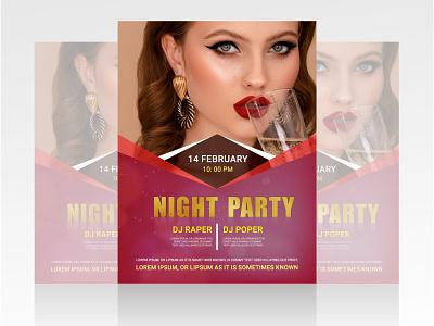 Night Party Flyer event flyer brochure design party flyer modern flyer flayer flyer vector design illustration graphic design