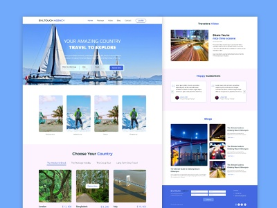 Syltouch Travel Agency Landing Page agency homepage travel agency landing page website uiux web design ui