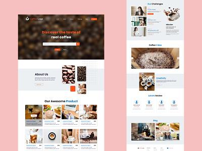 Coffee Shop Landing Page coffee shop adobe xd coffee homepage landing page uiux web design ui