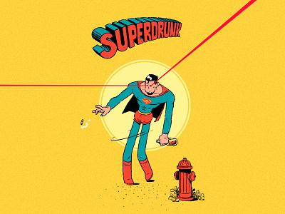 SuperDrunk mikkalinin kalininbrat funart illustration characterdesign superman superdrunk