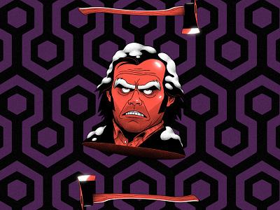 Jack mikkalinin characterdesign illustration stephen king stanley kubrick jack nicholson horror noir thriller shining movie jack torrance