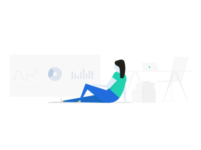Monitoring reports reporting insight product line vector illustration report