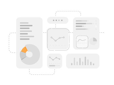 Reports bar graphic grey reporting insight product line vector illustration report