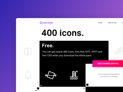 Roxy Icons ux free ui web page vector font icon