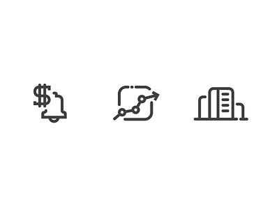 Enterprise Icons line solid icon vector bell report enterprise money