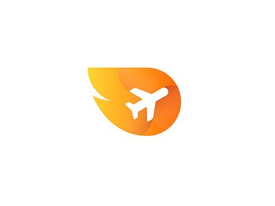 Orange Passport logo vector passport orange plane