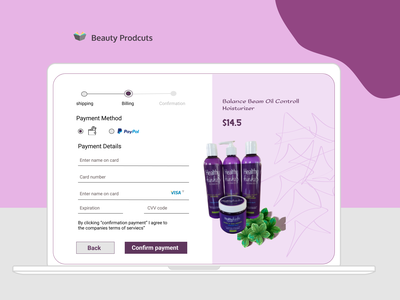 Web Design for Beauty Products websedign ui