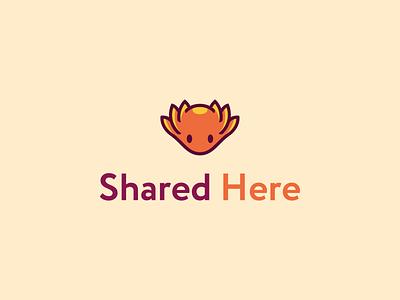 Sharedhere Logo cute mascot animal axolotl sharedhere logo icon