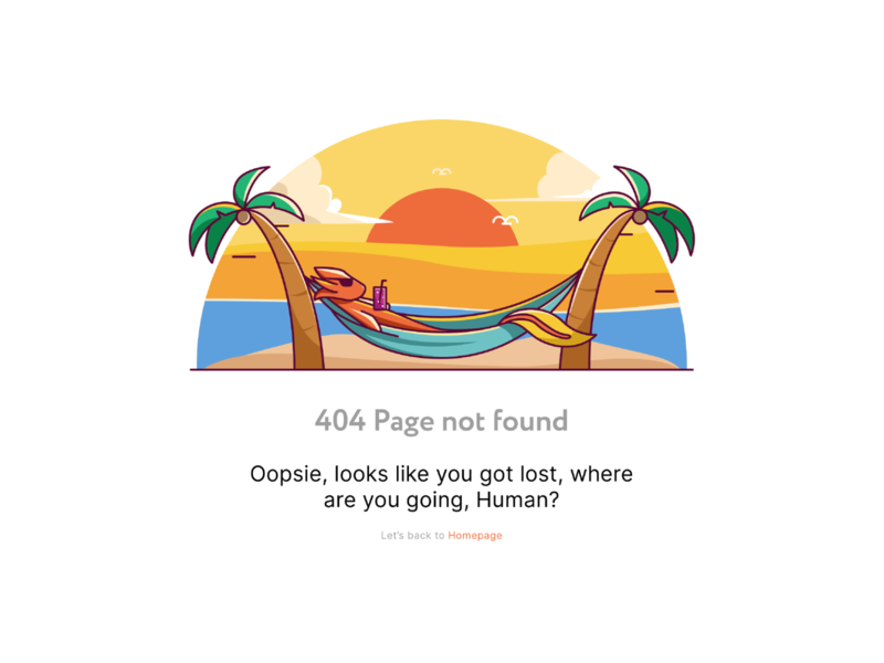 404 page not found holiday vacation summer page error 404 404 beach axolotl sharedhere illustration