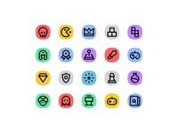Free Game Icon Set 🎮 console controller player pixel perfet esport gaming play game icon set game icon set icon