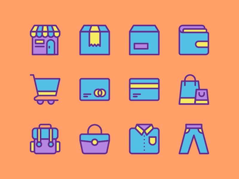 E-Commerce Icon Set icon set store icon ecommerce e-commerce
