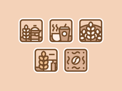 Coffee & Bread Icons