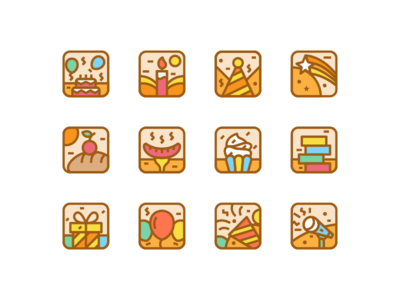Party Icons icon set decoration celebration mc cake bbq barbecue icon birthday party