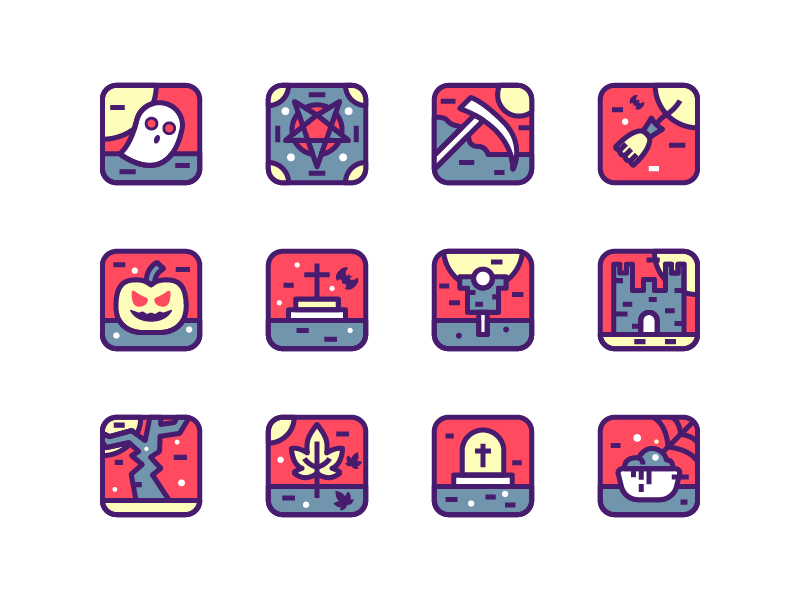 Halloween halloween icons october ceremony ghost spooky halloween ui icon set illustration icon