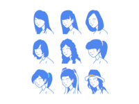 Woman Style Avatar Icon