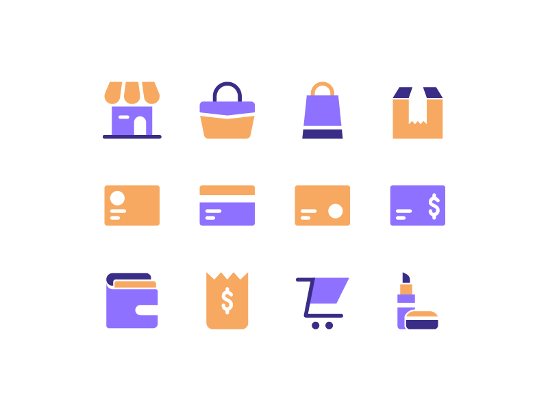 E-commerce Icons marketplace shop icon design e commerce e-commerce ecommerce icon set icon
