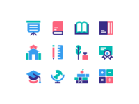 Education Icons tutorial learning archive book student education icons icon design school education icon set icon