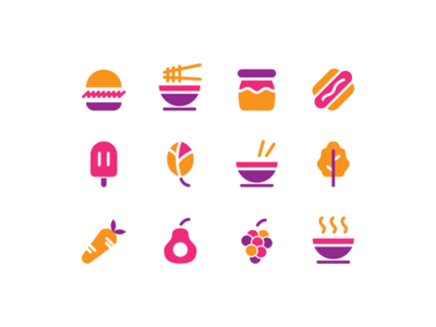 Food Icons fast food noodle ramen fruit vegetable burger food icon food icon design icon set icon