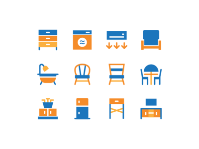 Furniture Icons chair couch furniture icon living room interior furniture icon design icon set icon
