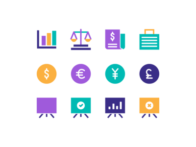 Finance Icons marketing presentation currency economy statistic money finance icons finance icon design icon set icon