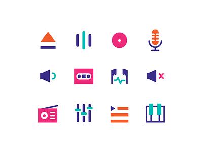 Music Icons audio sound headset earphone music player music icon music icon design icon set icon