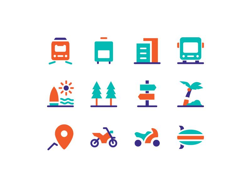 Travel Icons adventure holiday travel icon set vacation landmark icon design icon set icon