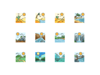 Landscape Nature Icon Set