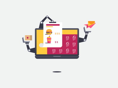 Automate for F&B business blog post campaign marketing campaign email marketing email soft drink fast food burger beverage food automate laptop