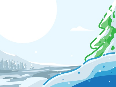 The Winter Tree season winter fall winter is coming december holiday snow ice christmas tree winter illustration