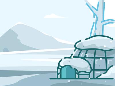 The Winter Blocks block ice igloo house holiday christmas winter nomad snow house igloo illustration