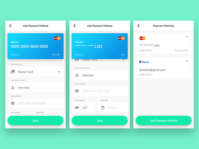 Payment methods ux banking money finance security form card app ui mobile payment